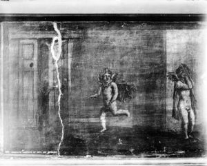 Affresco da Ercolano con Amorini che giocano. I sec. d.C. Napoli, Museo Archeologico Nazionale / wikimedia commons